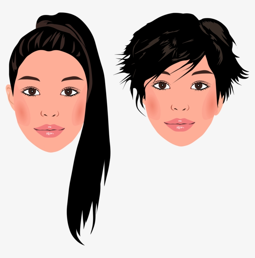 Hair Drawing Portrait Cartoon Woman Free Commercial Cartoon Face Of A Girl Whith Ponytail Png Image Transparent Png Free Download On Seekpng