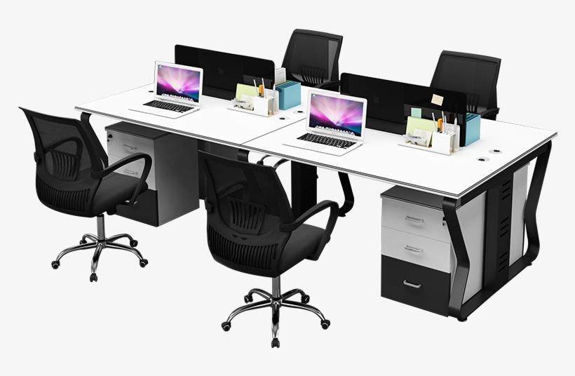 Modern 4 Person Guangzhou Office Desk