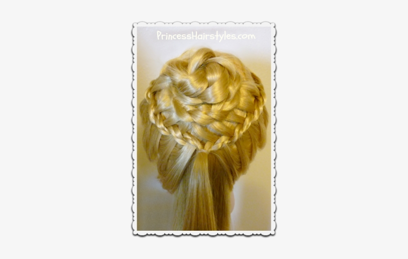 Braided Flower Corsage Hairstyle Video Tutorial Braid Png Image