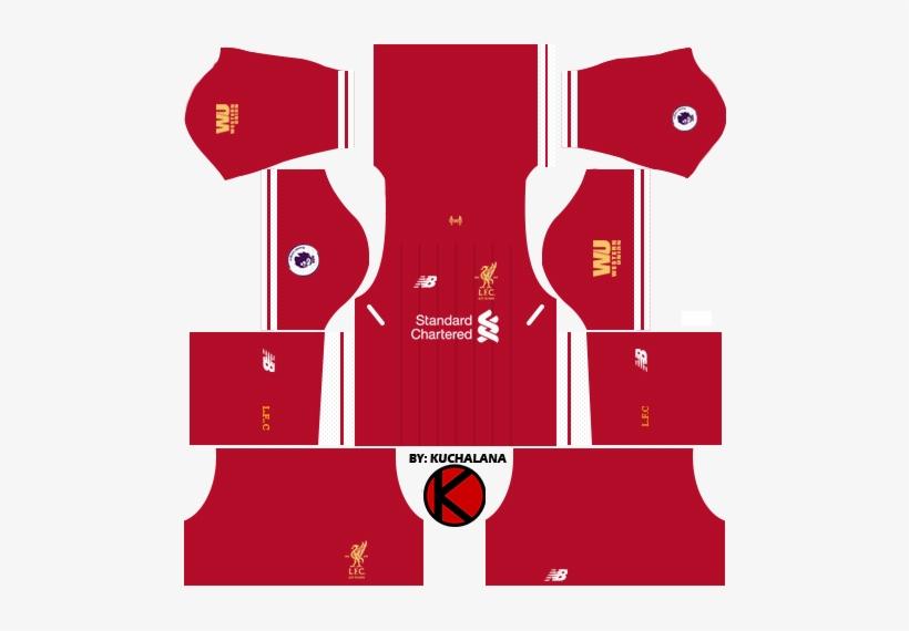 a6b1301af Liverpool Kits 2017 18 - Dls 18 Kits Liverpool PNG Image ...