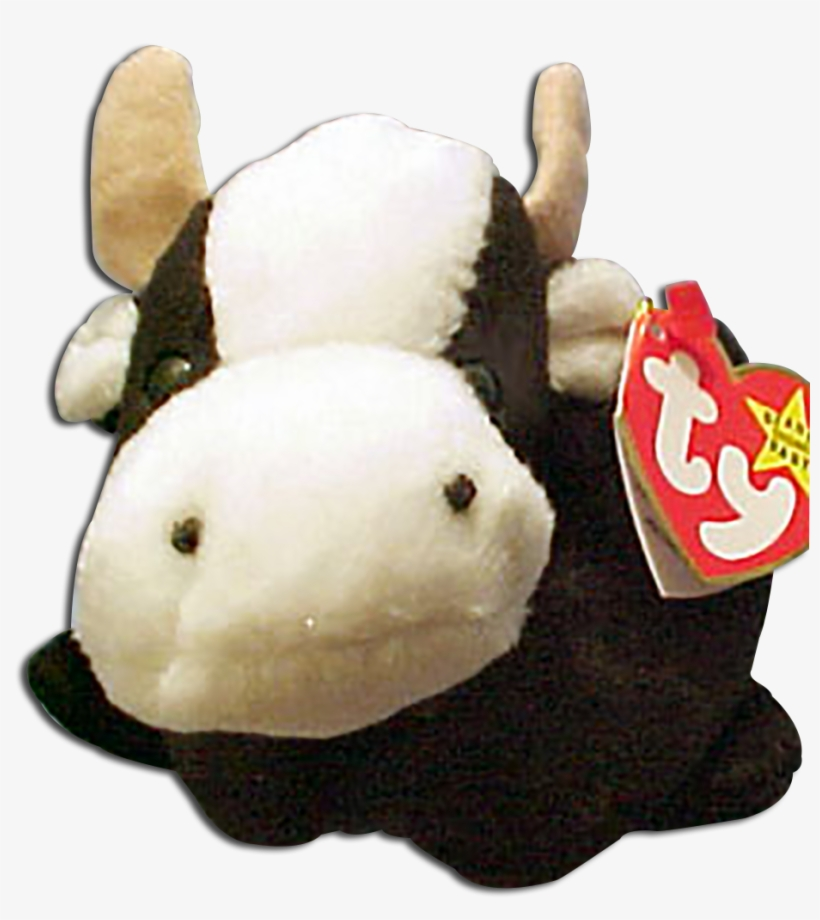 84d40e0534a Ty Beanie Babies Daisy The Black And White Cow Stuffed - Ty Inc. PNG ...