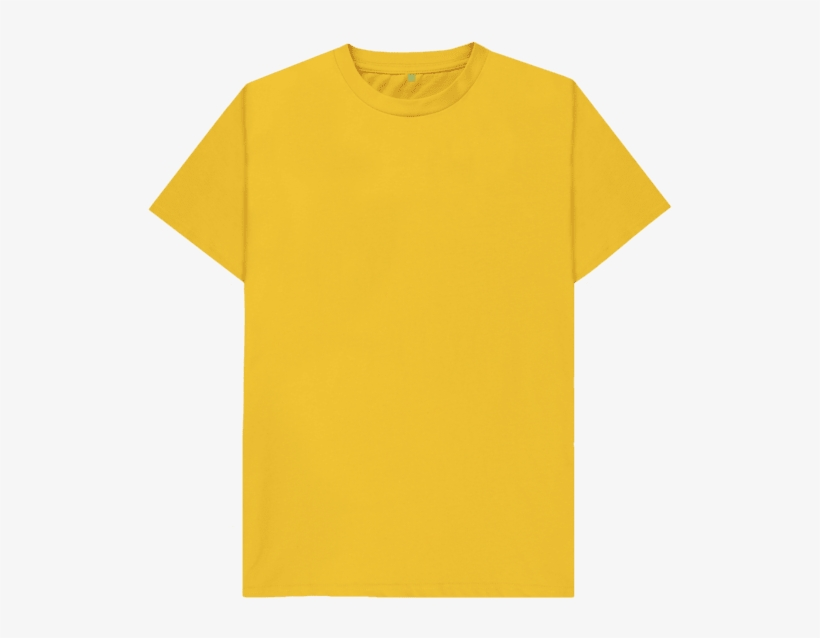 0953a093 Mustard Plain Organic T-shirt - Plain Yellow Polo Shirt PNG Image ...