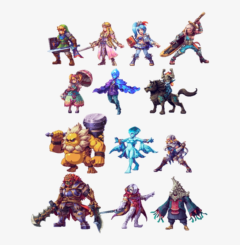 Hyrule Warriors The Legend Of Zelda Legend Of Zelda Breath Of The Wild Sprite Png Image Transparent Png Free Download On Seekpng