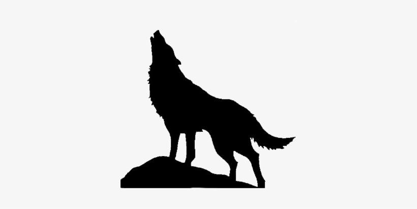 Silueta Lobo: Silueta De Lobo Aullando PNG Image