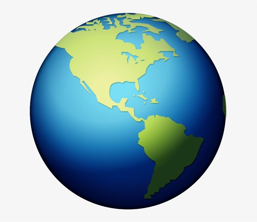 Earth Globe Transparent Background - Earth Emoji@seekpng.com