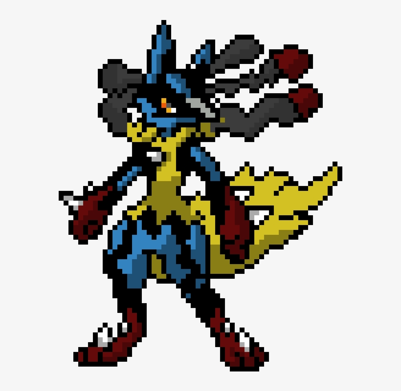 Pixel Art Pokemon Mega Lucario