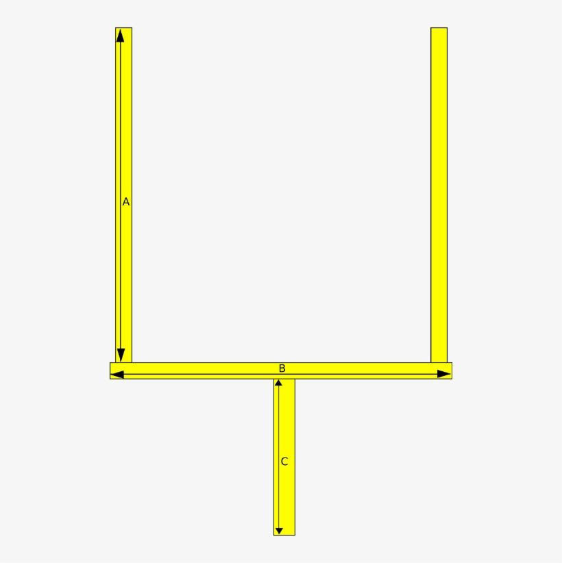 Football Goal Post Clipart Nfl Goal Png Png Image Transparent Png Free Download On Seekpng