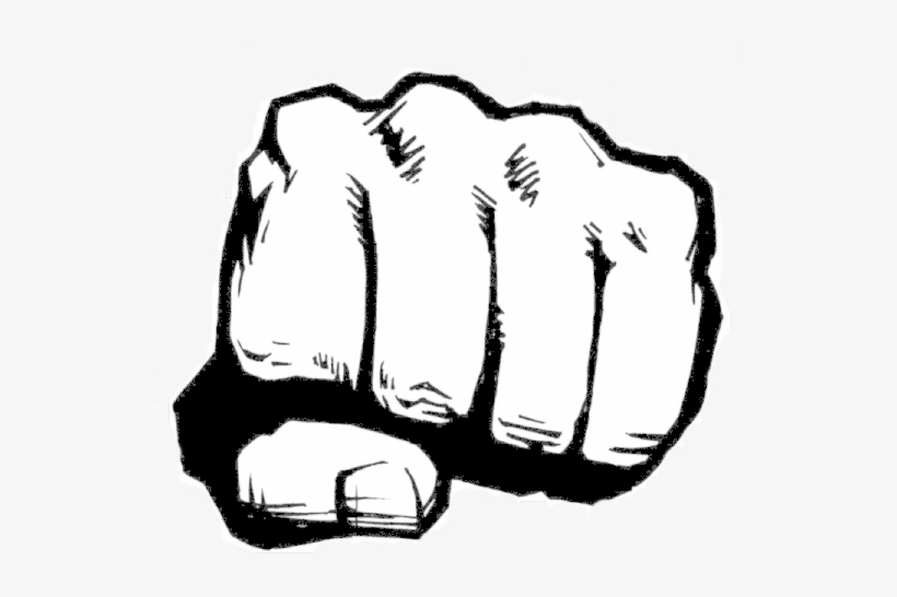 Free Download Fist Punch Clipart Punch Fist Clip Art - Hulk Fist Black And White@seekpng.com