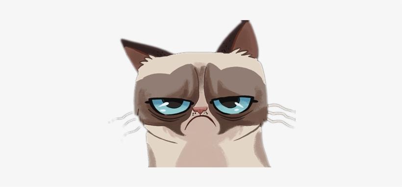 Méthode 1 - Grumpy Cat Cartoon Transparent@seekpng.com