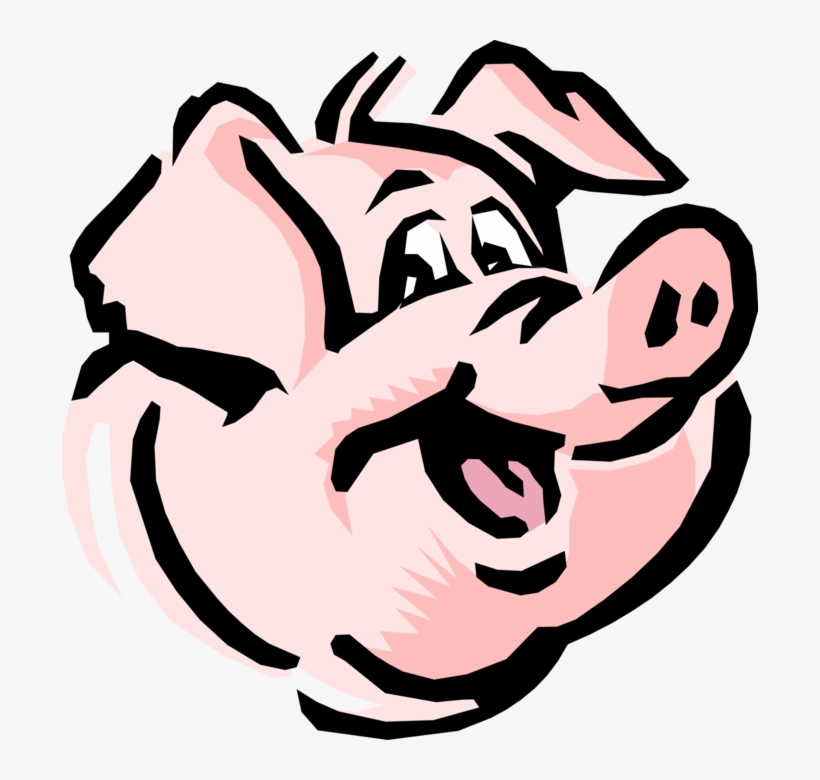 Vector Illustration Of Cartoon Swine Pig Head Smiling Uncle The Pig Charlotte S Web Png Image Transparent Png Free Download On Seekpng