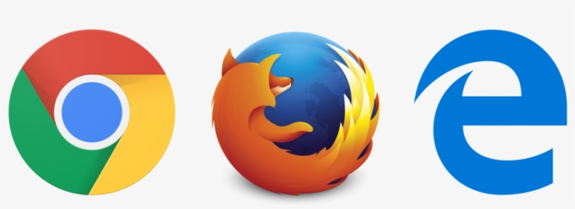 Browser Logos - Microsoft Edge Chrome Firefox PNG Image
