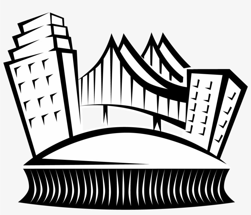 New Orleans Skyline Vector Clip Art Superdome Clipart Png
