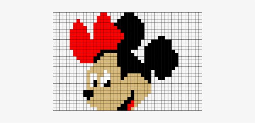 Minnie Mouse Pixel Art Bugelperlen Vorlagen Kostenlos Disney Png