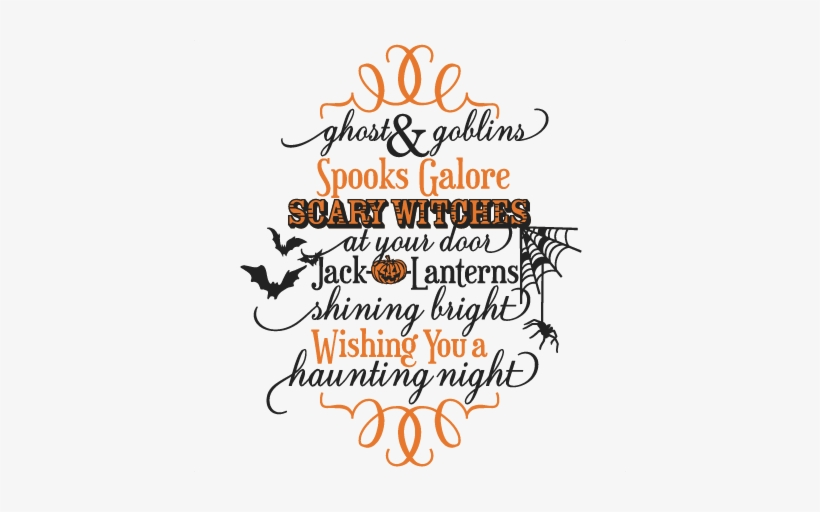 Halloween Quotes Svg.Ghost Goblins Phrase Svg Scrapbook Cut File Cute