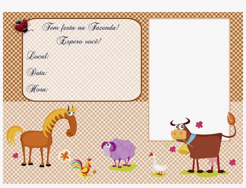 Convite Tema A Fazendinha No Formato Png Com Espaco Animal Wall