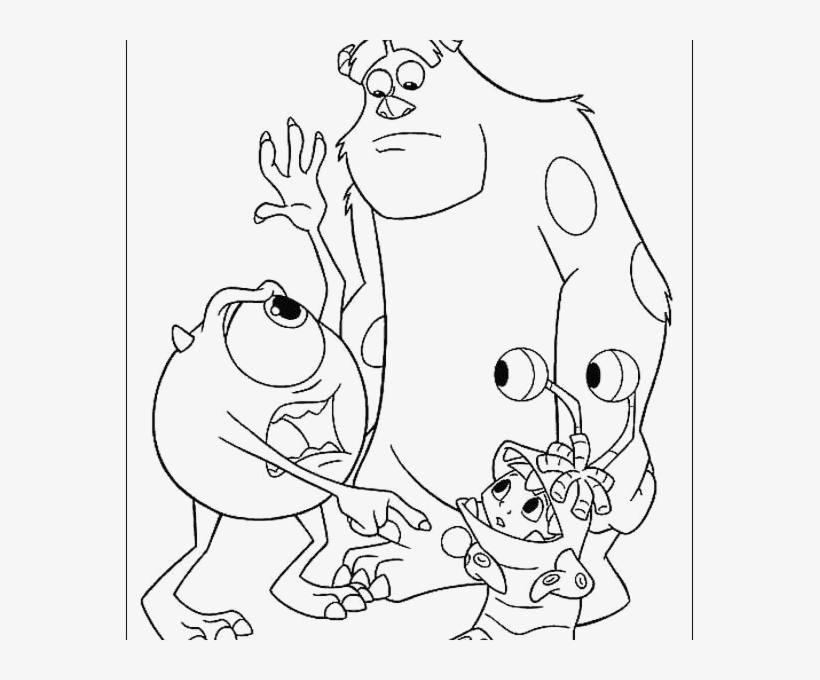 Color Pages Inc - Mike Wazowski Coloring Page PNG Image ...