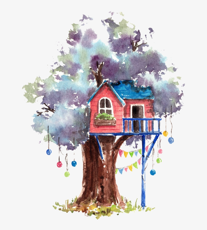 Painting Tree House Cartoon Transprent Png Free Watercolor Painting Tree House Png Image Transparent Png Free Download On Seekpng What's more, other formats of cartoon clipart, cartoon, tree vectors or background images are also available. painting tree house cartoon transprent