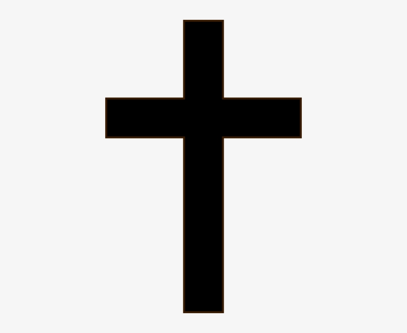 Crucifix Clipart Black And White Simple Black Cross Black