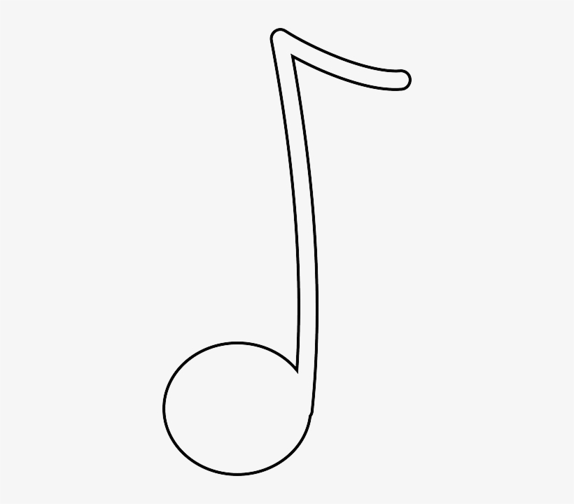 Music Note Outline White Recreation Double Notes Colour In Musical Note Png Image Transparent Png Free Download On Seekpng