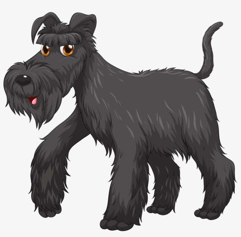Pitbull Clipart Spotted Dog Perro Schnauzer Animado Png Png Image