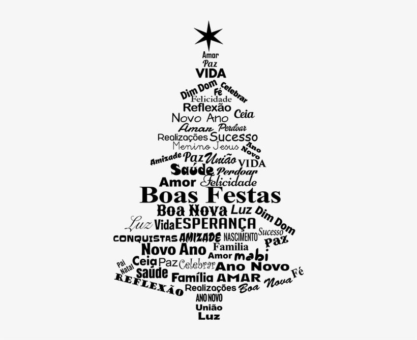 Arvore De Natal Adesivo Png Arvore De Natal Texto Png