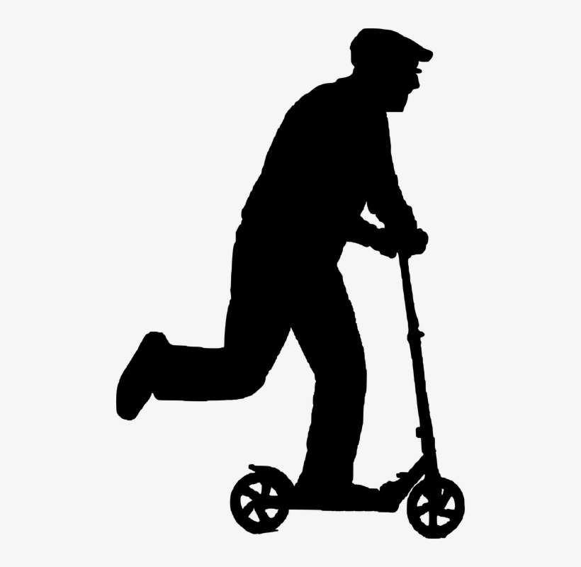 old clipart orang tua scooter silhouette png png image transparent png free download on seekpng old clipart orang tua scooter