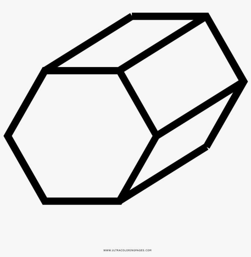 Dibujo De Hexágono Para Colorear Hexagon Png Image Transparent