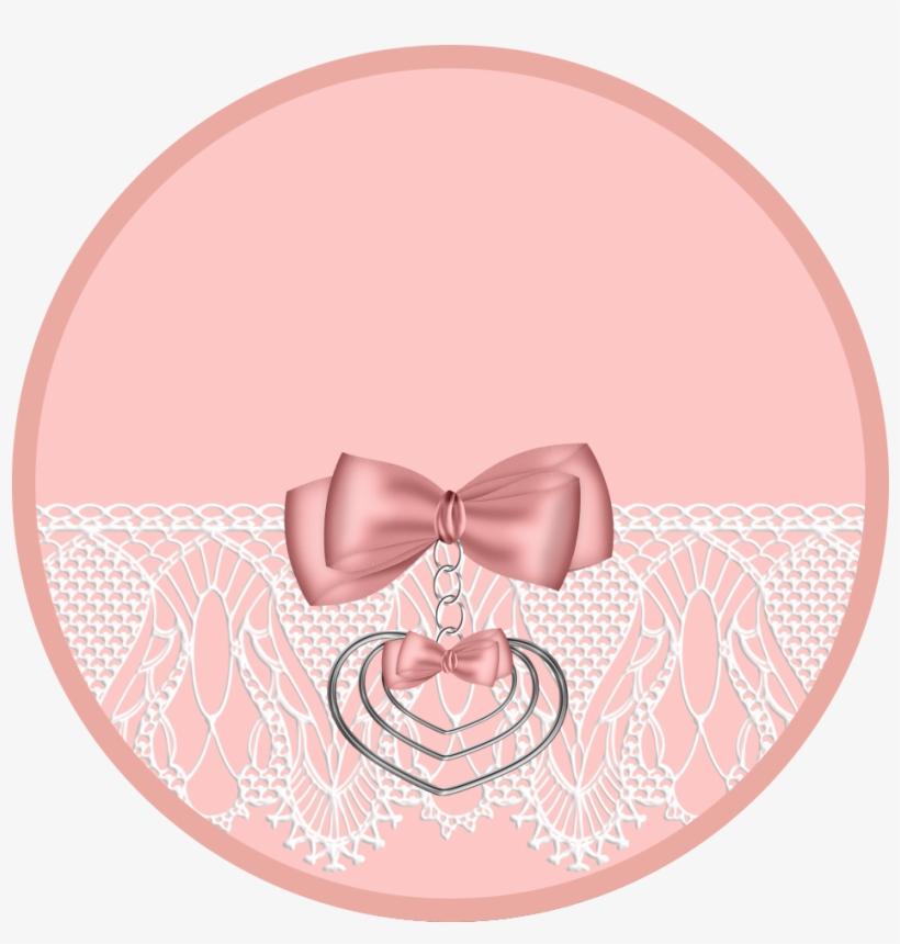 Kit Rosa Con Encaje Para Imprimir Gratis Etiquetas