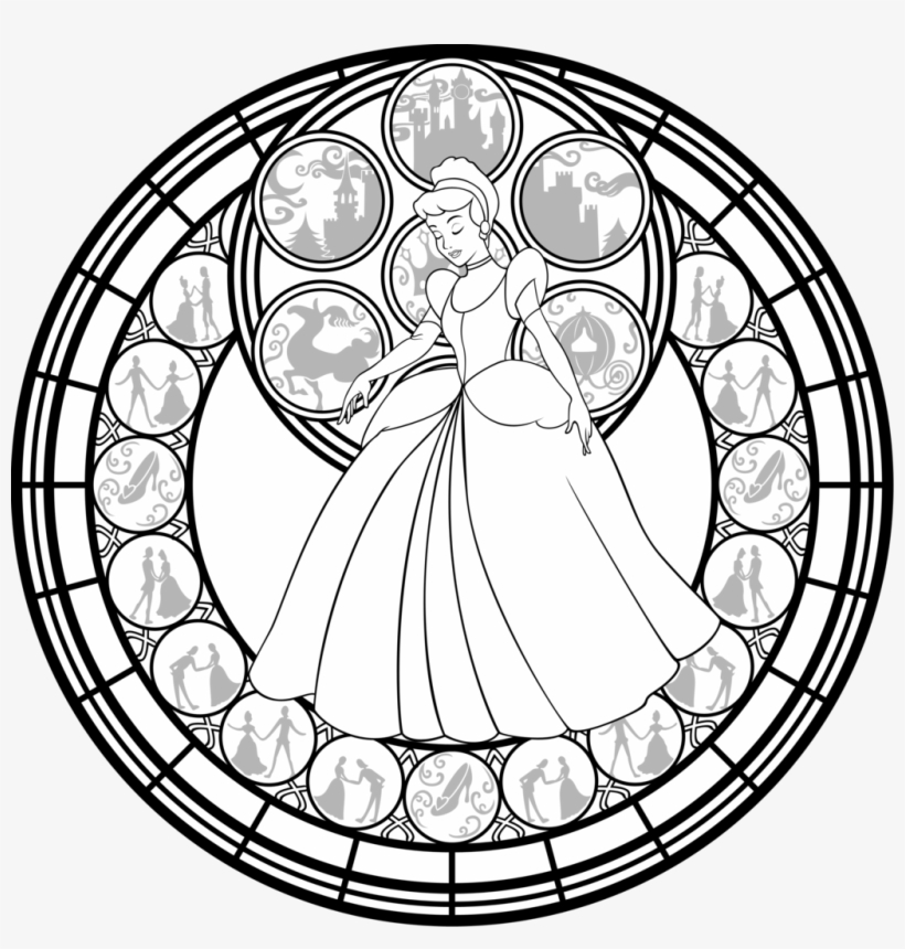 Stained Glass Window Coloring Pages Mandala Princess Coloring Book