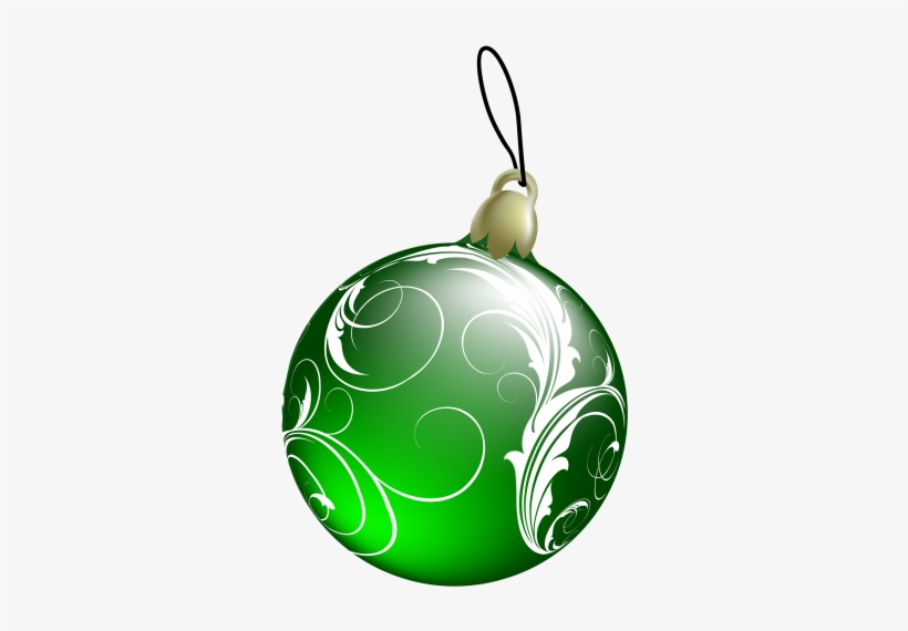 Beautiful Green Christmas Ball Png Clipart 3d Christmas Ornaments