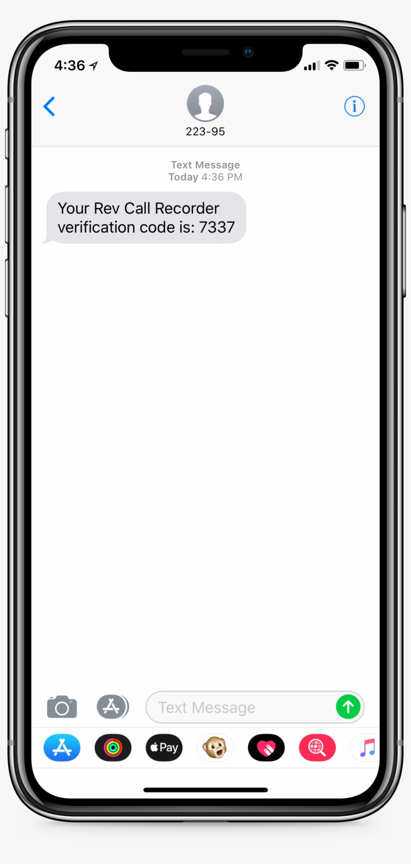 Iphone Screen With Text Reading