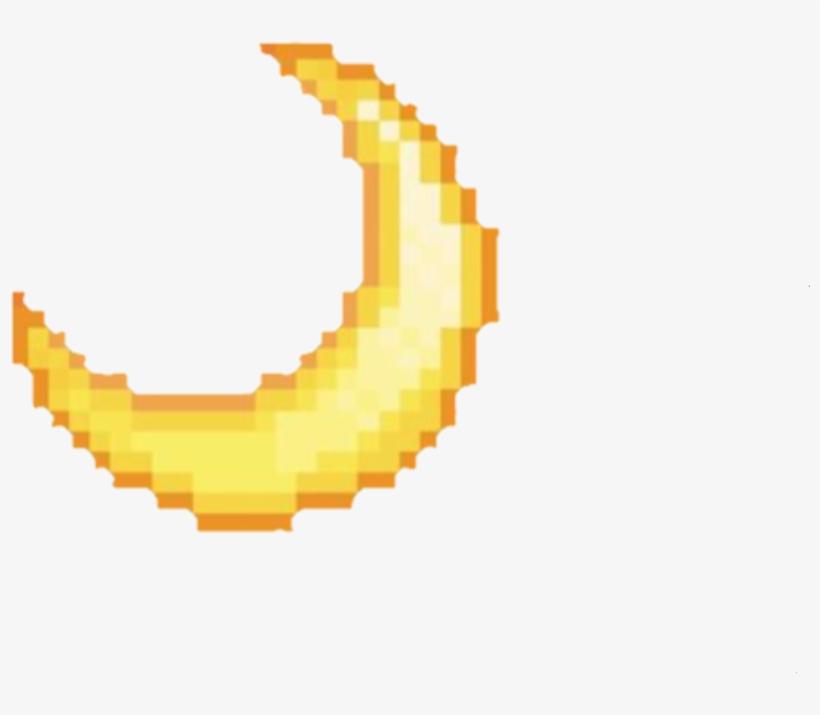 Moon Emoji Tumblr Pixel Yellow Remixit Aesthetic Transparent