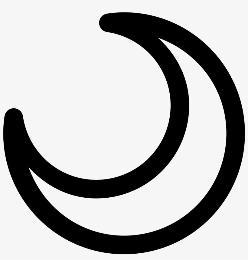 Moon Emoji Transparent - Crescent Moon Symbol Drawing PNG