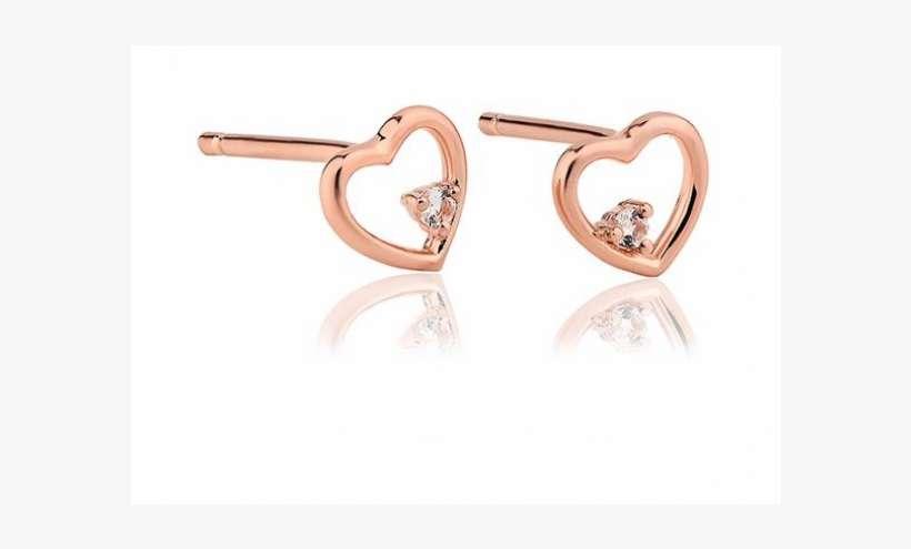 58b21c27f Lucinda King Faith Rose Heart Stud Earrings - Tory Burch Heart Stud Earring  - Vintage Gold