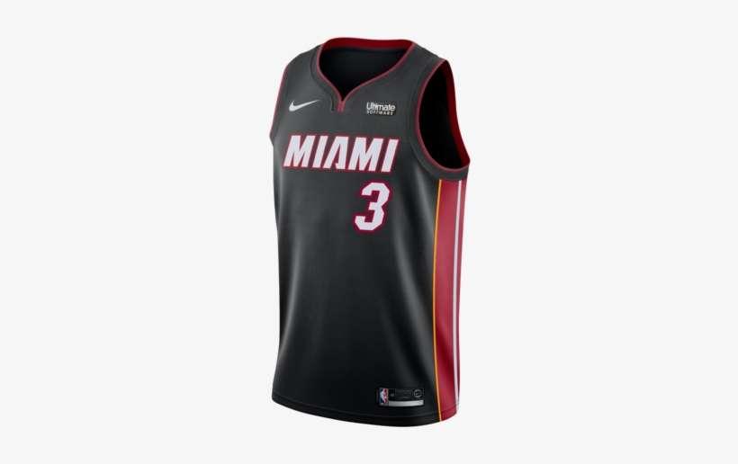 new styles 4bd6b c22e8 Dwyane Wade Nike Miami Heat Icon Black Swingman Jersey ...