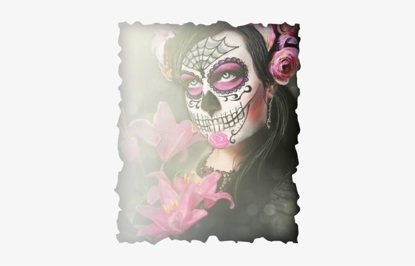 Pact With Santa Muerte - Pink Catrina Makeup PNG Image