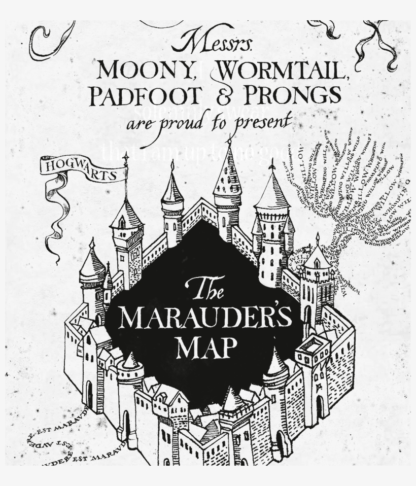 Say It And Zoom In Harry Potter Marauders Map Printout Png Image
