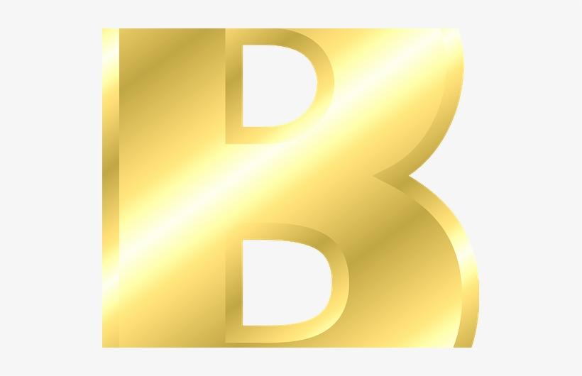 a74d605b4680b Letter B Capital Letter Alphabet Abc Gold B - Letter PNG Image ...