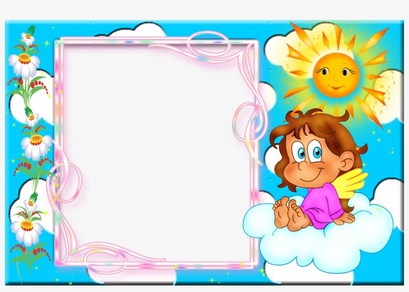 Baby Girl Background Frame Png - Baby Photo Frame Hd PNG