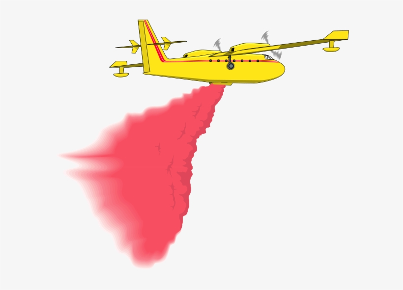 Plane Clipart Fire Fire Fighting Airplane Cartoon Png Image