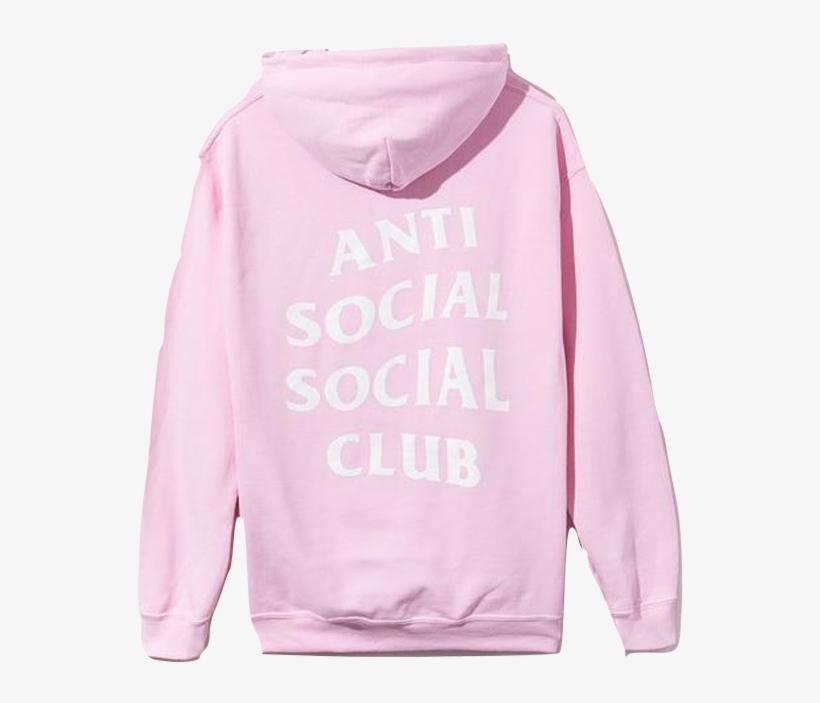 a9d6cc0c8f4c Anti Social Social Social Club Pink Hoodie - Anti Social Social Club Hoodie  Png