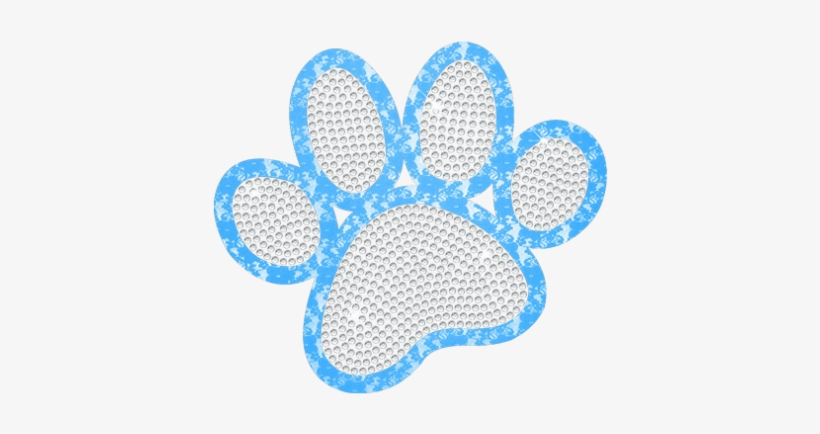 Classic Paw Print With Lace Outline Design - Placemat PNG