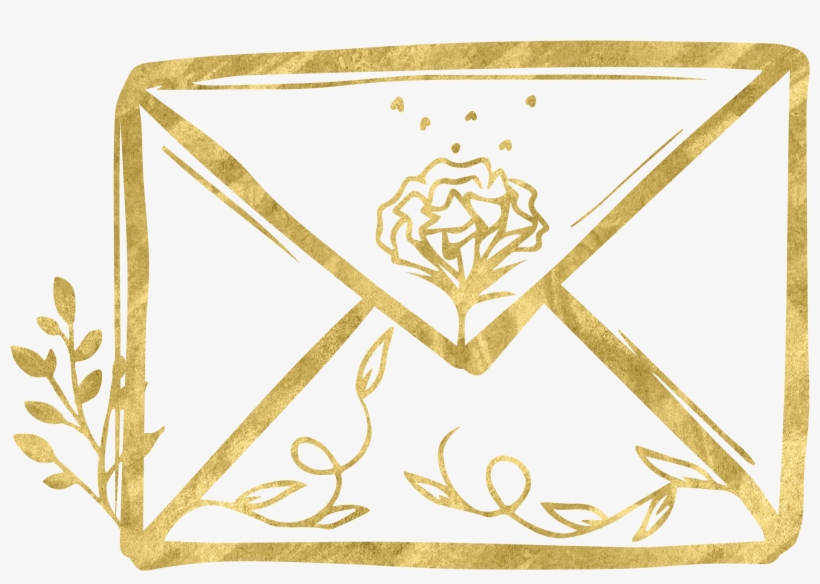 Gold Email Icons Png@seekpng.com