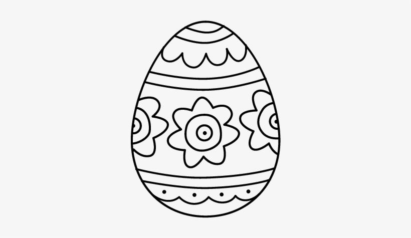 Dibujo De Huevo De Pascua Con Flores Para Colorear Ovos De Pascoa