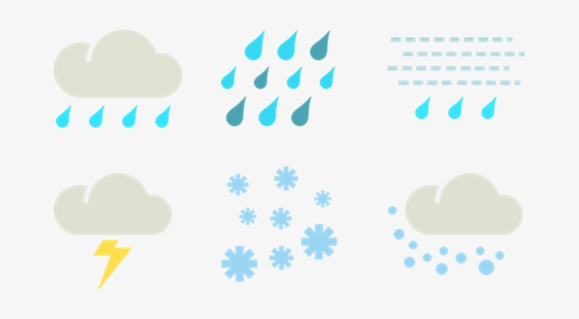 Wet Weather Symbols   Difference Between Rain And Showers PNG