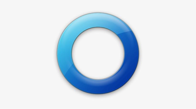 Circle In Circle Icon Blue Circle White Background Png