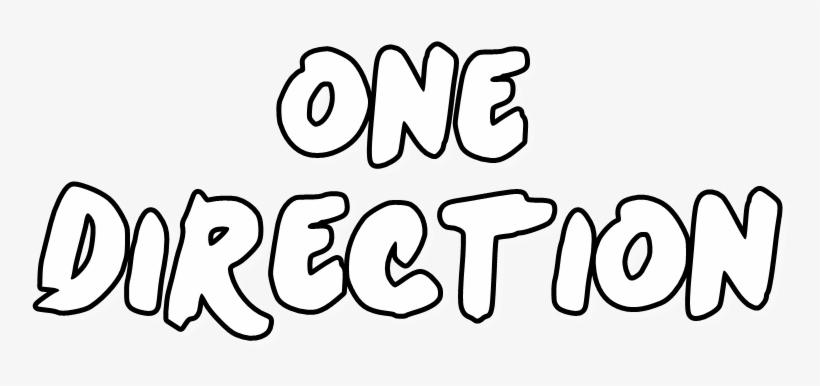 One Direction Png Text - One Direction Logo White PNG ...