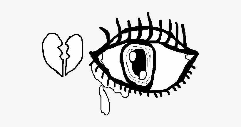Dibujo De Ojo Triste Para Colorear Tristeza De Amor Desenho Png