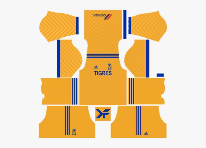 Tigres Uanl Dls/fts Fantasy Kit - Dream League Soccer Kits