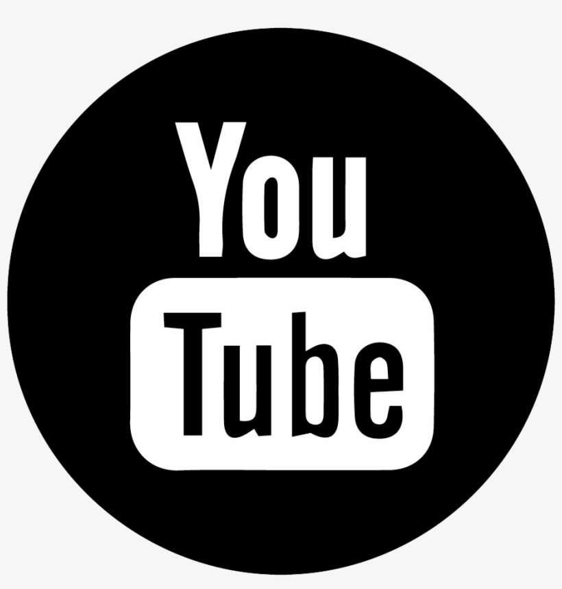 Follow Joan As Police Woman - Youtube Logo Black Round PNG Image